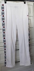CHAMPION Activewear Zip Legs Track Pants Size Large White ML819J Retail $60