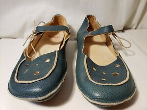 CAMPER Flats Mary Jane Blue  Leather EUR Size 37 US 6.5-7