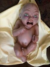 Ugly Baby Demon Doll that spits Liquid prop Halloween Life Size