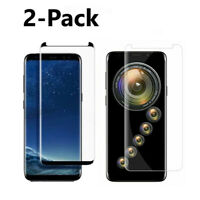 2-Pack Tempered Glass for Samsung Galaxy S8 Plus S9 Note 9 8 Screen Protector