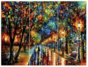 Leonid Afremov - When Dreams Come True - Oil Painting - Triptych. Was $7,500 Now
