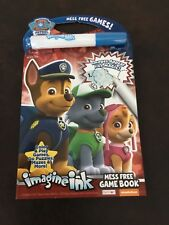 NEW 24pg Nickelodeon Paw Patrol Imagine Ink Mess Free Game Activity Book Travel