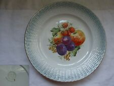 ASSIETTE A DESSERT  BARBOTINE  ST AMAND  DECOR FRUITS  N°1