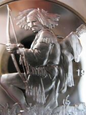 7/8-OZ. PAIUTE NATIVE AMERICAN TRIBAL INDIAN NATIONS ART ROUND SILVER .999 +GOLD