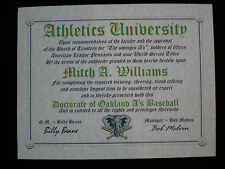 Oakland A'S Fan ~ Athletics~Certificate ~Diploma~ Gift~ Man Cave ~ Office