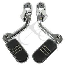 "32mm 1-1/4"" Long Angled Adjustable Highway Foot Pegs Footpeg For Harley Davidson"