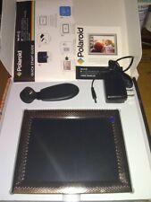 """8"""" Touchscreen Wi-Fi Digital Metal Frame- Silver Metal Textured Frame - Polaroid"""