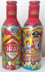 "Set de 2 botella aluminio Cerveza ""Dorada"" 33cl (Sta. Cruz de Tenerife, España)"