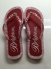 Brighton Red & White Flip Flop Women Sandals Size 7 In Pretty Good Condition