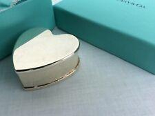 Tiffany & Co Silver Box - Sterling Silver Heart shaped trinket box