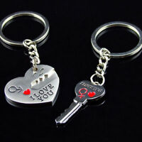 """Lovers I LOVE YOU """"Key To My Heart"""" Keyring Valentines Gift Romantic Couples"""