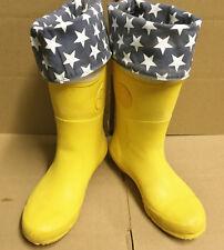 Rare Converse Fold Down Yellow Star 2-Tone Rubber Rain Boots US 8 EU 39 UK 6