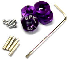 1/10 Scale RC 12mm Alloy Wheel Locking Drive Hex Hubs Adapter Nut Pin Purple 5mm