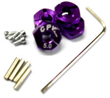 57805P 1/10 Scale RC M12 12mm Alloy Wheel Locking Hubs Adapter Nut Purple 5mm