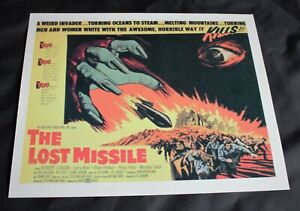"""LOBBY CARD POSTER. 1958 Sci-Fi/Horror Movie 'The Lost Missile' 11.5"""" x 9.5"""""""