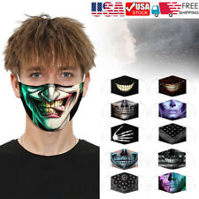 Fashion Face Mask 3D Printed Face Cover Washable Reusable Outdoor Protection US
