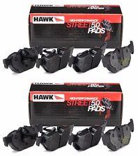 HAWK HPS 5.0 2014-2016 CHEVROLET CHEVY CORVETTE BASE C7 FRONT + REAR BRAKE PADS