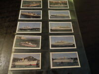 1963 PASSENGER LINERS Queen Mary Cruise Ship Trade card complete set  of 25