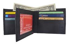 Bifold Wallet Men's Genuine Leather Black Credit/ID Card Holder Purse Gift
