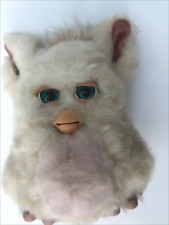 FURBY 2005 Hasbro Tiger 59294 Beige Tan With Pink Belly Blue Eyes Works