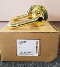 Schlage Entrance Lock ND53LD TLR 605 Tubular Lever Bright Brass LESS CYLINDER