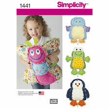 Simplicity SEWING PATTERN 1441 Rag Quilted Pillows-Butterfly,Frog,Penguin,Bird