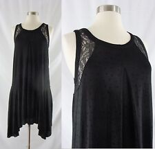 NWT Free People Small Black Polka Dot A-Line Lace Swing Dress $98 Cut Outs NEW