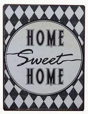 Blechschild Home Sweet Home Wandschild mit Spruch Deko Schild Retro Vintage Look