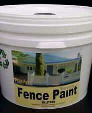 5x10 Litres Cans OF RE-ENGINEERED Fence Paint COLOUR - RARE EBONY