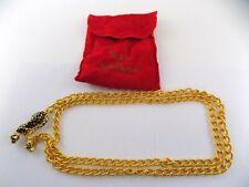 New listing Vtg Kenneth Jay Lane Jaguar Gold Tone Chain Belt Rhinestone Big Cats w Pouch Kjl