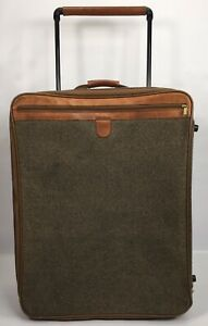 Hartmann Large Tweed with Leather accents Suitcase - Rolling Wheeled 27x20x11