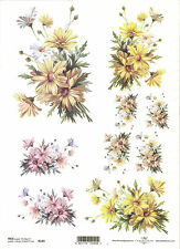 Rice Paper for Decoupage Scrapbooking, Bunch of Chrysanthemums A4 ITD R249