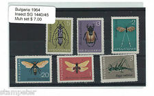 1964 Bulgaria Insects SG 1440/45 Set of 6 MUH
