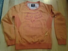 Fox womans orange long sleeve shirt size M