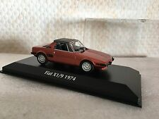 FIAT x1/9 1974 ROSSO 1:43 MAXI Champs Minichamps Nuovo & Ovp 9400121662