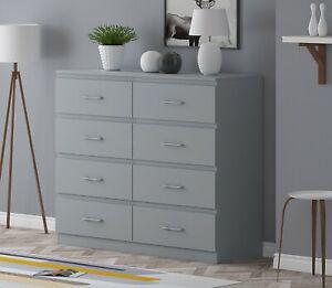Tromso - 8 Drawer Chest of Drawers - Modern Furniture - Matt Grey