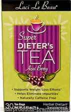 NEW NATROL LACI LE BEAU SUPER DIETER'S TEA ACAI BERRY CAFFEINE FREE 30 TEA BAGS