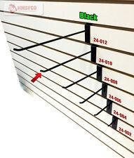 """10"""" Slatwall Metal Hooks (24-010BL) - 100 Piece - Black (NEW)"""