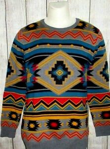 MENS EMPYRE SURPLUS WESTERN TRIBAL CREWNECK SWEATER SIZE S