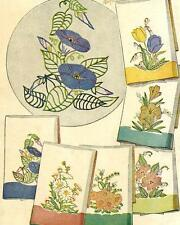Vintage Embroidery Transfer repo 7120 Flowers Tulips Lilies for Applique Towels