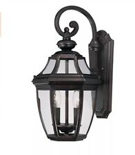 Savoy House 3 Light Outdoor Wall Mount Lantern/ Light English Bronze Finish
