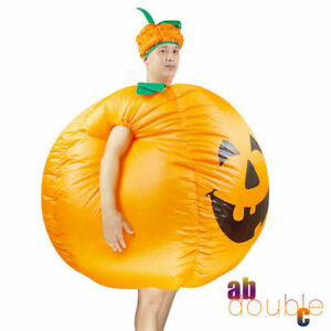 Cosplay Adults Pumpkin Outfit Halloween Inflatable Fancy Dress Party Costume