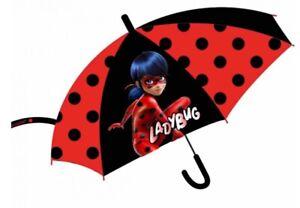 Girls Kids Ladybug Be Miraculous Umbrella Brolly Dome Official Waterproof Rain