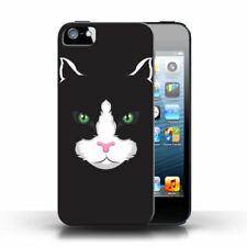 Black Cat Mobile Phone Fitted Cases/Skins for Apple