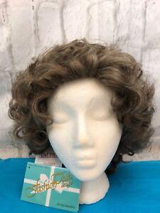 Fashion Club Designs EVERLASTING Brown Gray Curls Wig New Average 21-22