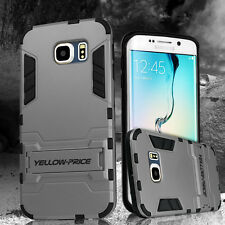 Rugged Hybrid Armor Impact Hard Case Kick-Stand Cover For Galaxy S6 Edge+ Plus