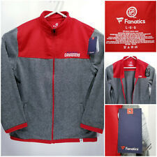 NWT Montreal Canadiens Mens Large Full Zip Jacket Polyester Fanatics