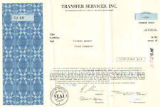 Transfer Services > 1972 share stock certificate