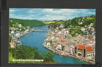Dennis  Vintage Colour  Postcard General View Looe Cornwall posted 1964