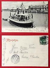 Anlass AK KARLSRUHE 1902 Einweihung vom Rheinhafen mit Schiff Baden  RAR ( 11334